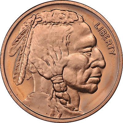 Indian / Buffalo Nickel - 1 oz. .999 Pure Copper Round