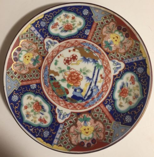 Imari Ware Japan Plate Gold, Red, Blue, Green 6 1/2