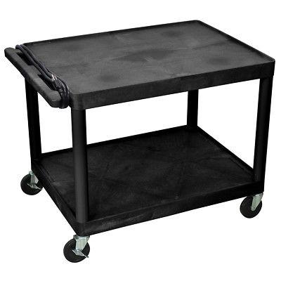 Luxor LP27E-B 32 x 24-Inch 2-Shelf Black Electric Endura Presentation Cart