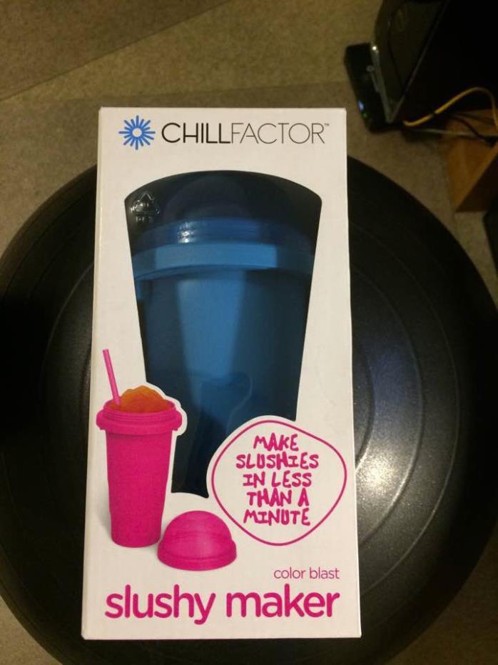 ChillFactor Slushy maker color blast BLUE NEW in box! Make Slushies in  1 minute