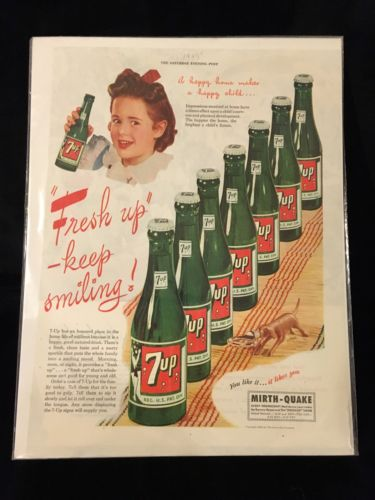 Vintage 7 UP Large Magazine Print Ad