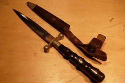 SCARCE Ed Wusthof ~Solingen Germany ~Vintage Dagger Hunting Knife w/ Sheath