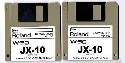 ROLAND W-30 W30 JX-10 JX10 Sound Diskettes