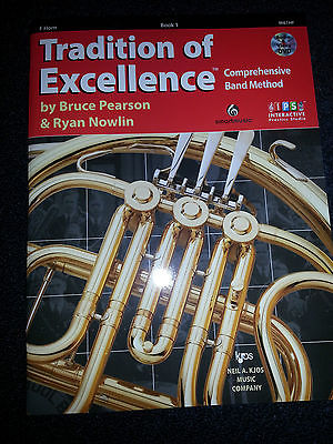 TRADITIONS OF EXCELLENCE  BAND METHOD BOOK 1 FRENCH HORN
