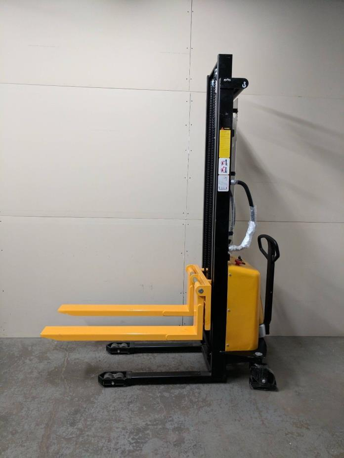 HOC EMS138 SEMI ELECTRIC STACKER 2200 POUND CAPACITY + 138 INCH HEIGHT CAPACITY