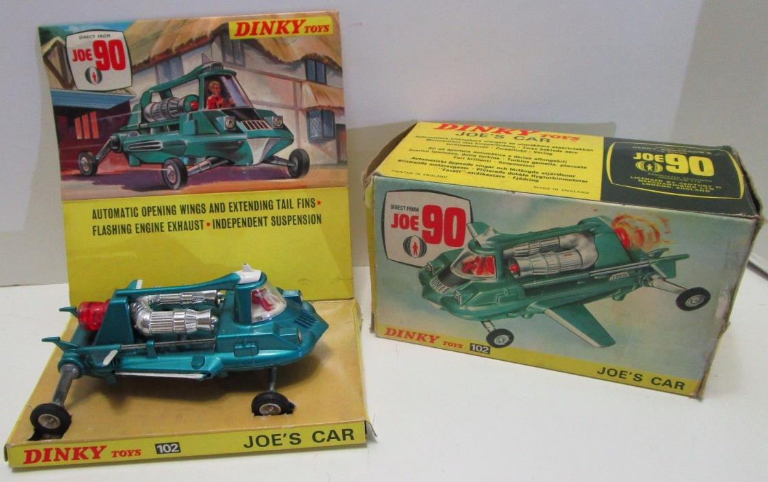 RARE VINTAGE DINKY TOYS JOE'S CAR FROM THE TV SERIES JOE 90 W/BOX **NEW IN BOX**