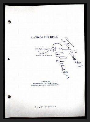 Authentic Land of the Dead signed original Movie script prop