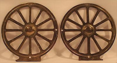 Vintage Antique Brass Zinc Toilet Tissue Paper Holder End Pieces Wall Mount