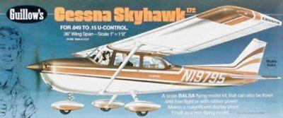 Cessna Skyhawk Guillows #802 Balsa Wood Model Airplane Kit