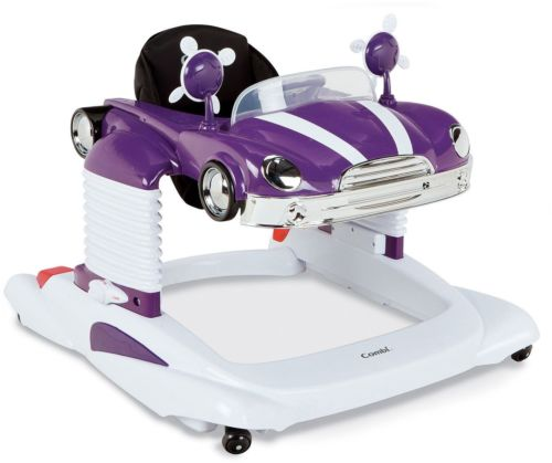 All-in-One Mobile Entertainer Baby Walker Classic Purple Car Play Tray 30 Lbs