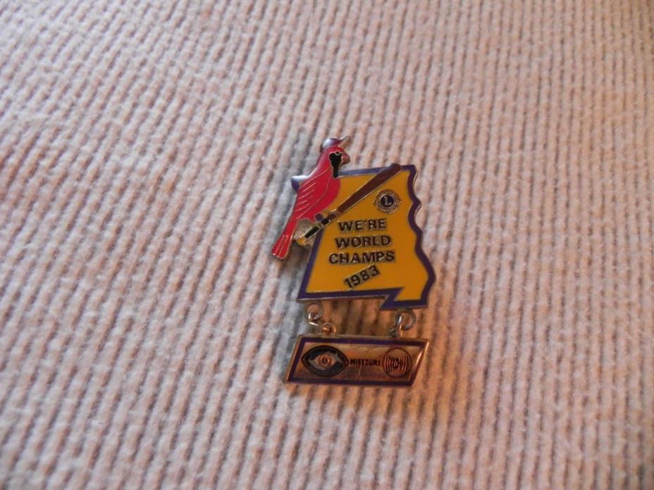Missouri Lions Club Pin 1983 World Champs vintage lapel hat pin NICE
