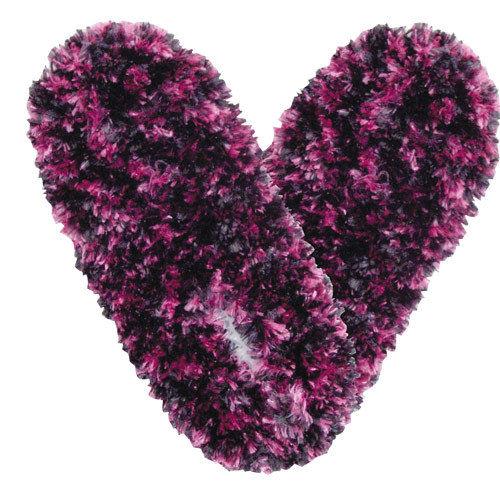 Dark Purple Pink & Purple Fuzzy Footies Foot Coverings Slippers Non-slip