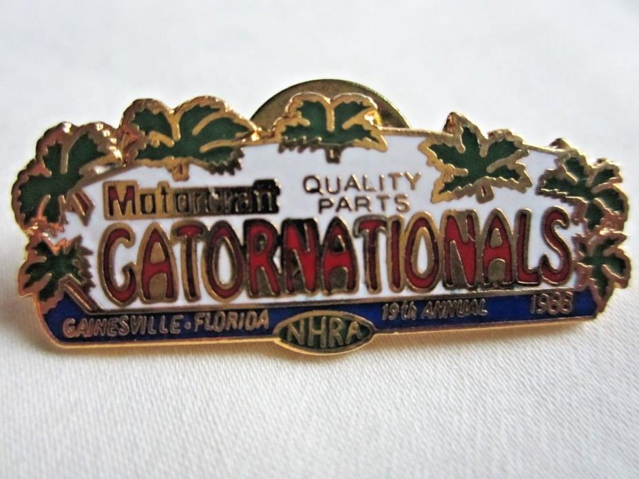 NHRA 88 Motorcraft QParts Gatornationals Gainesville Drag Racing Event Pin