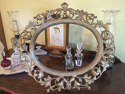 Antique Iron Art JM 58 Victorian Gold Gilt Picture  Frame ~ Huge 17