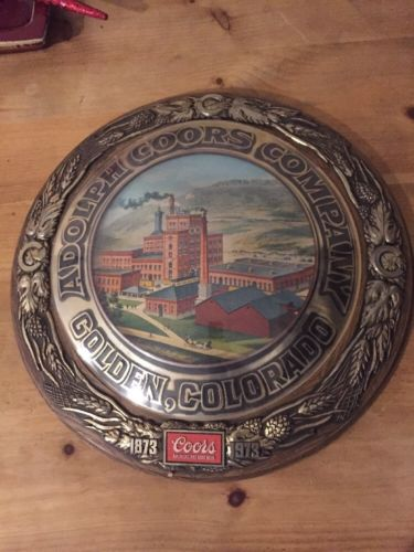 Rare Vintage 1973 Coors Beer Company Building Wall Sign Bar Man Cave Golden co.