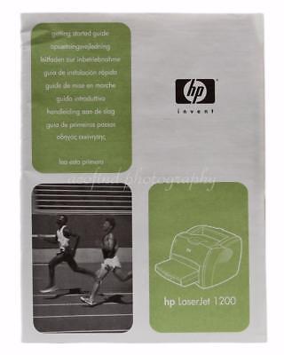 2001 Hewlett Packard HP Laser Jet 1200 Printer Instruction Owners Manual & CD