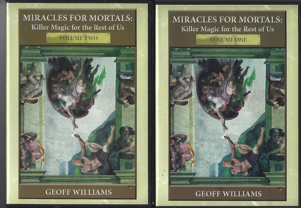 Miracles for Mortals Volumes one + two Magic tricks - 2 DVD's by Geoff Williams