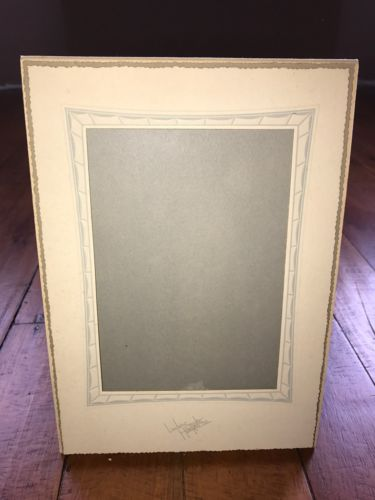 Vintage Art Deco Linden Bostonian Cardboard Photo Easel Frame Mat Hampton Iowa
