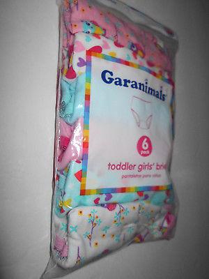 TODDLER GIRLS BRIEFS  6 pack   2T/3T