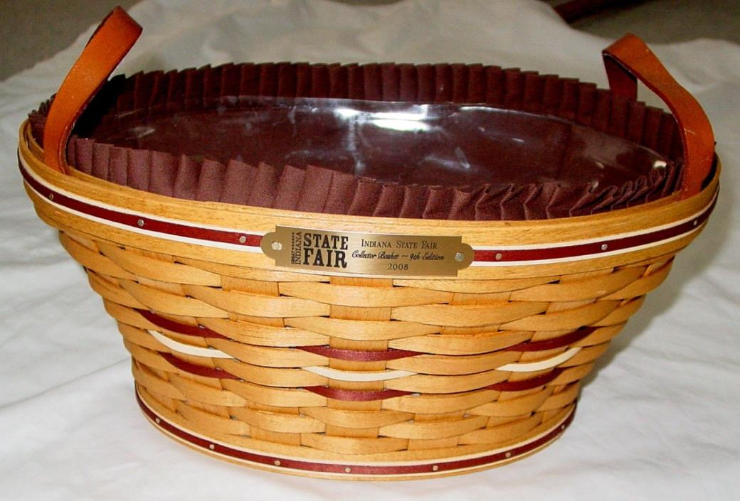 NEW 2008 INDIANA STATE FAIR BASKET BY AMERICAN TRADITIONS BASKETS-9TH EDITION