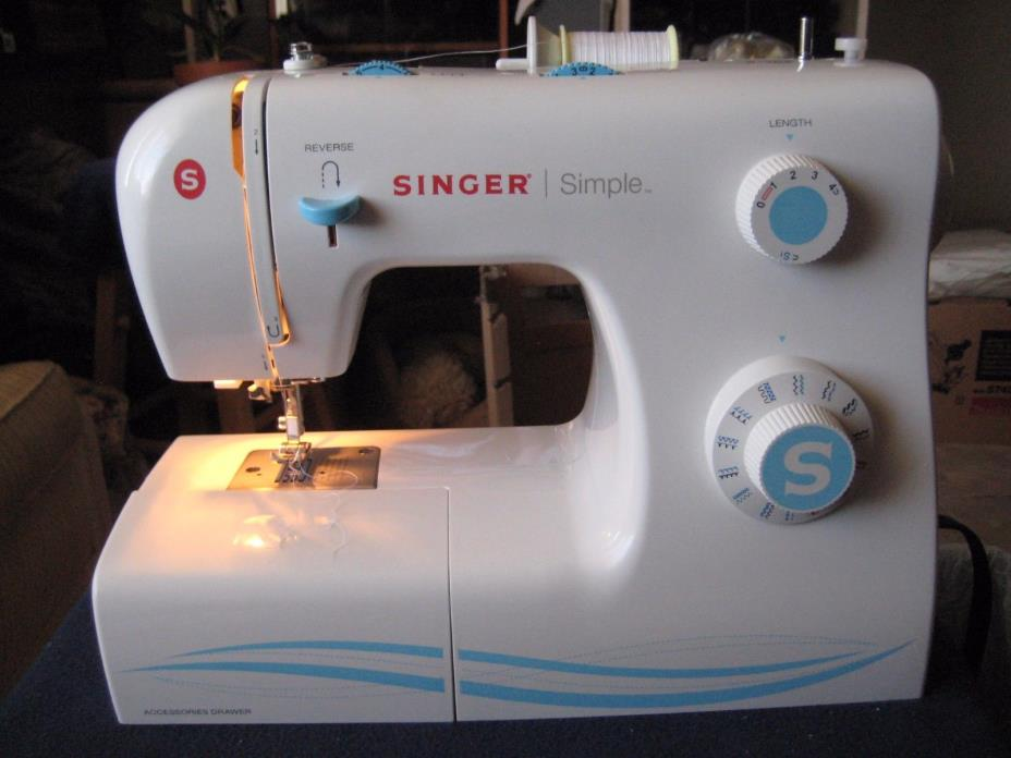Nice! SINGER Sewing Machine Model 2263 with 23 Built-in Stitches WORKS GREAT!!!!