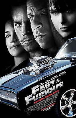 FAST AND FURIOUS ORIGINAL PARTS 11X17 Movie Poster collectible RARE CLASSIC