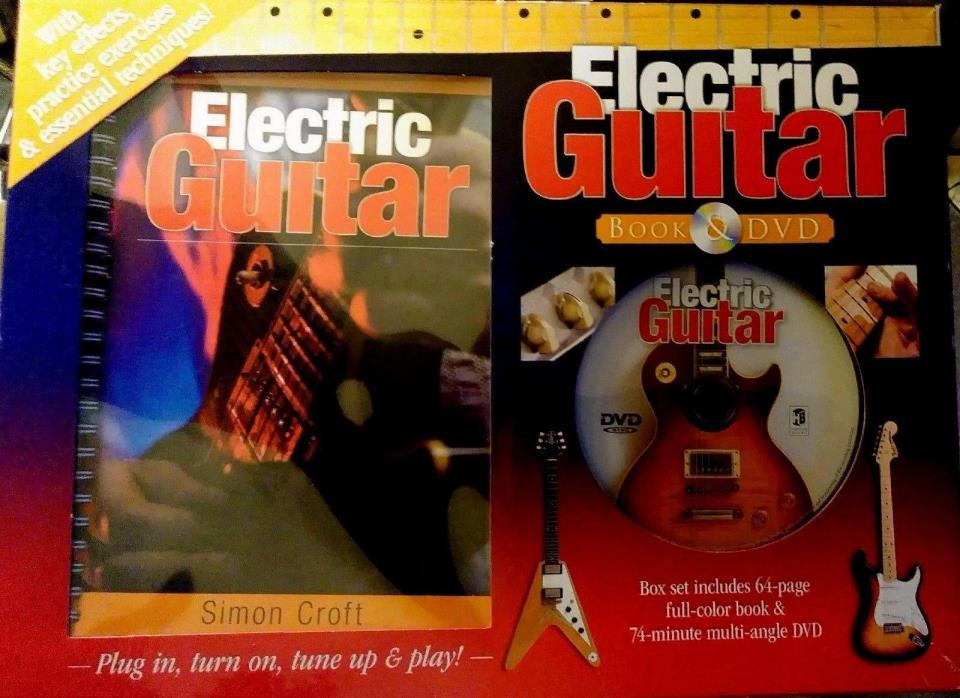 Simon Croft Electric Guitar 64 page Book & DVD Set Techniques Practice Lessons