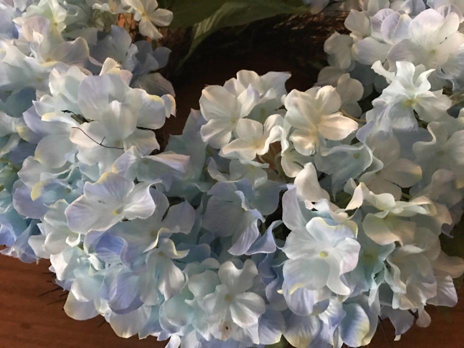 $50 Soft Blue Hydrangea & Twig WREATH - Door Wall Table DECOR 19-20