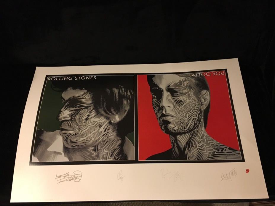 ROLLING STONES TATTOO YOU SIGNED LITHOGRAPH POSTER PRINT-Limited Edition
