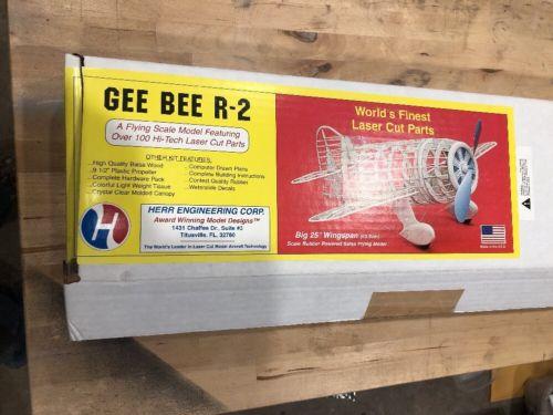 Gee Bee R-2 #107 Herr/SIG Balsa Model Airplane Kit R/C, Rubber Powered Kit