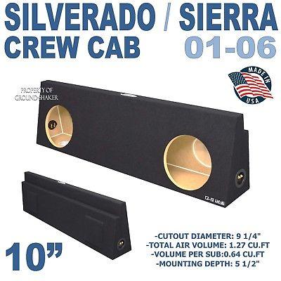 Chevy Silverado & GMC Sierra Crew Cab Sub Box Sub woofer Enclosure speaker box