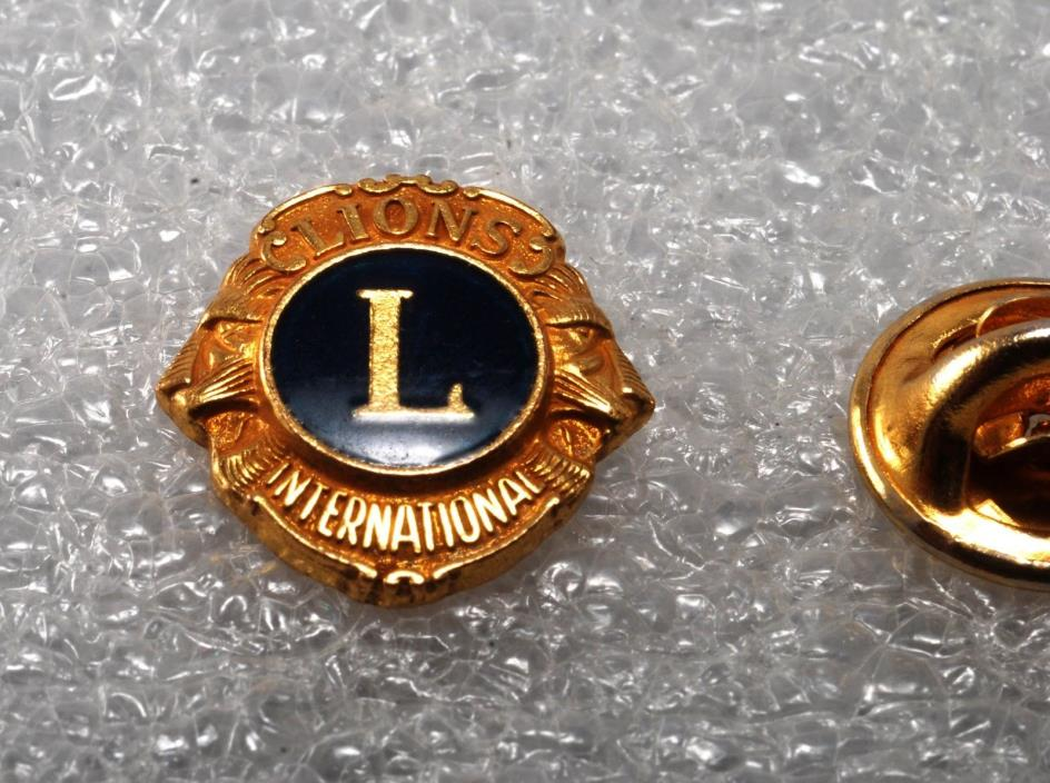 Vintage Lions Club International Lapel Or Hat Pin 1970's Used