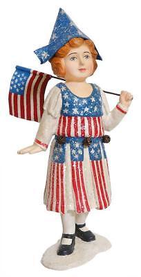 Stars & Stripes Girl With Flag