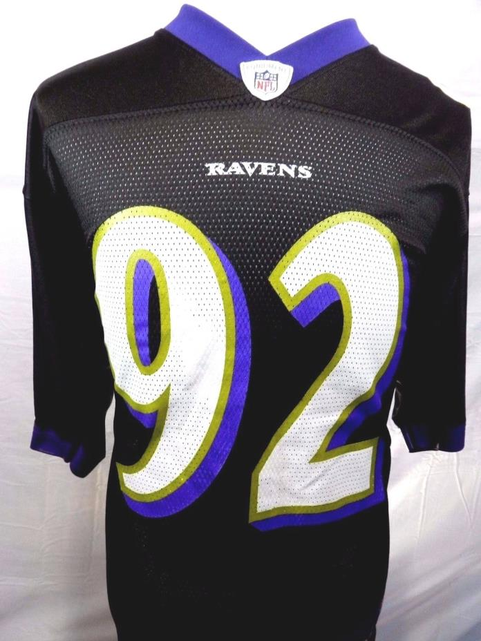 NFL Reebok Baltimore Ravens Medium Ngata Jersey #92 Purple Nylon Short Sleeve
