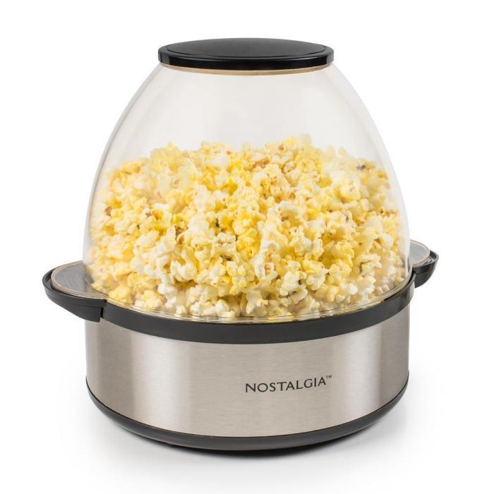 Nostalgia SP660SS Stainless Electric Steel Stir Popper Popcorn Maker Machine