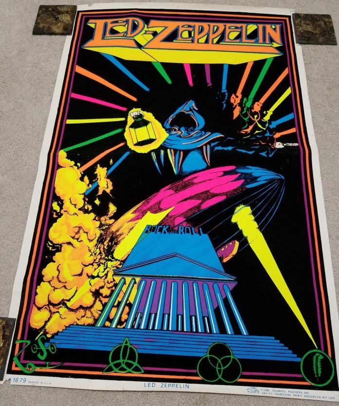 Led Zeppelin Black Light Poster