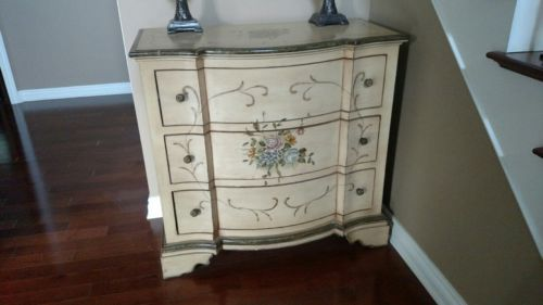 Handpainted furniture chest
