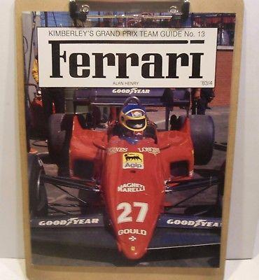 FERRARI auto racing KIMBERLY'S GRAND PRIX TEAM GUIDE #13 Formula 1 race 1983-84