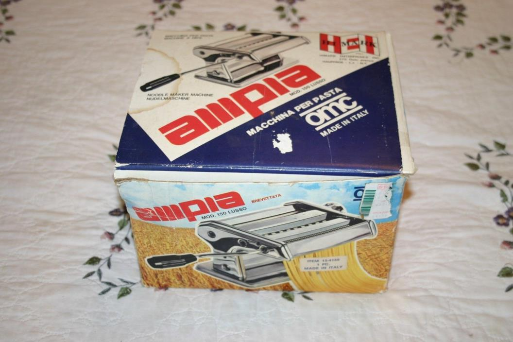 Marcato Ampia Model 150 Pasta Noodle Maker Machine in Box, Made in Italy, Nice