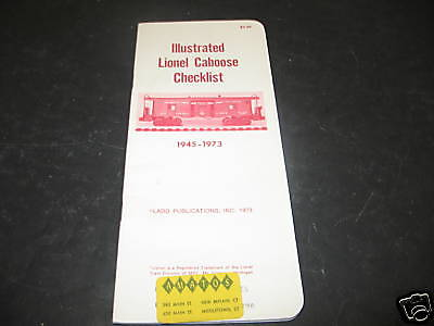 Ladd Publications Illustrated Lionel Caboose Check List