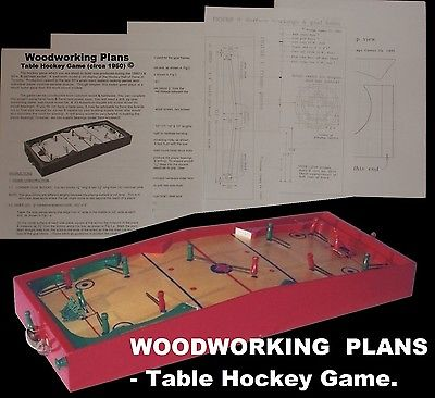 WOODWORKING PLANS - Munro TABLE HOCKEY game D-I-Y plans (English).