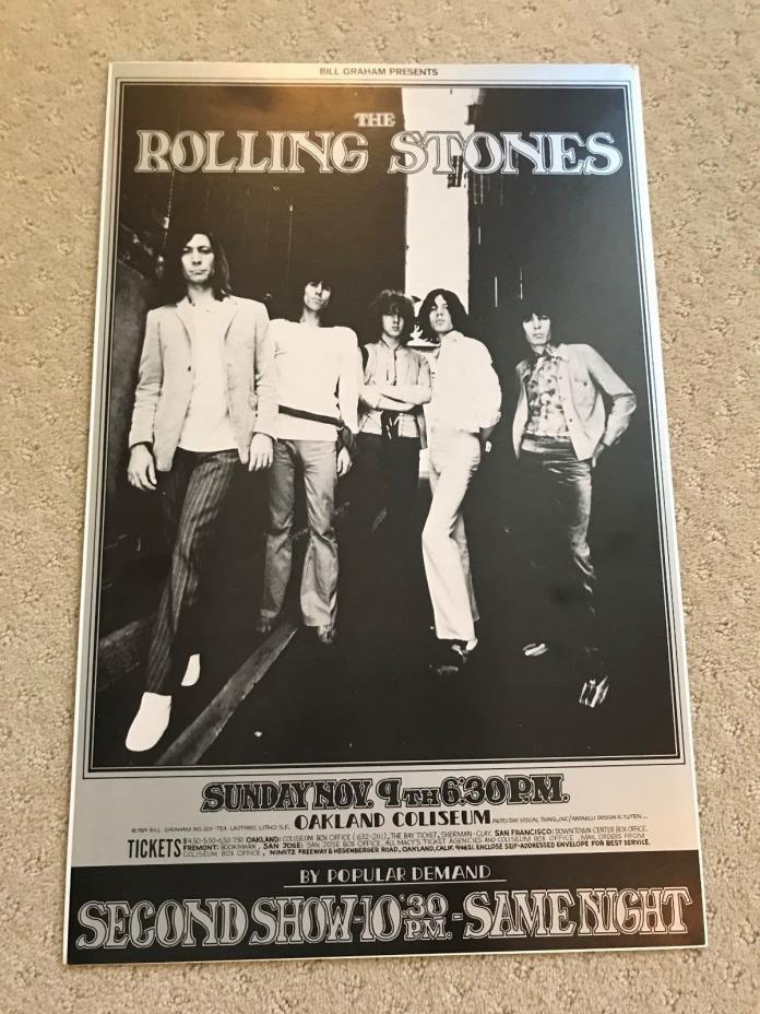 Vintage - Rolling Stones Concert Poster- Oakland Coliseum 1969 - Great Condition