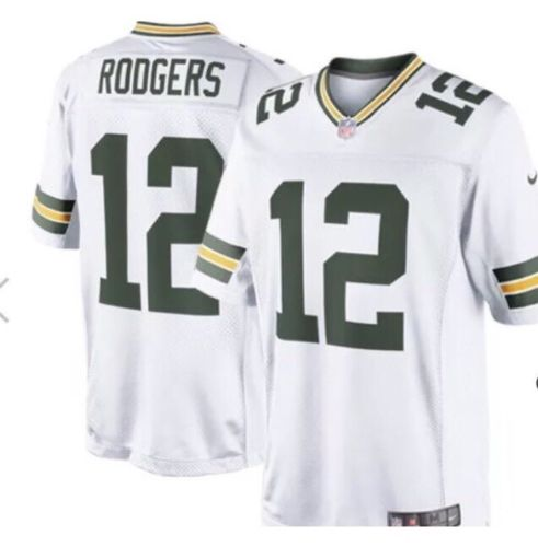 Mens Sz L Nike Aaron Rodgers Green Bay Packers Limited Jersey (Sewn) Reg$150