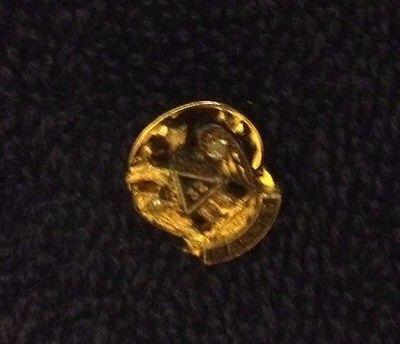Vintage 32 Degree Double Eagle Dallas Mason Sterling Lapel Pin Masonic