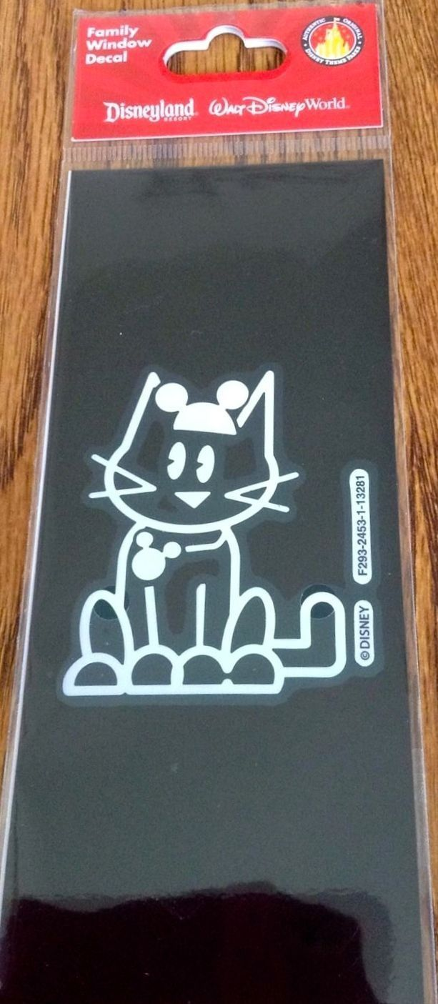 Disney Cat with Mickey Mouse Ears Window Decal / Sticker / Cling New Retired