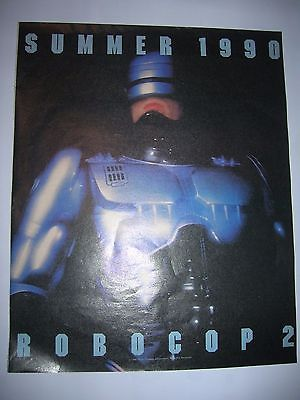 VINTAGE 1990 ROBOCOP 2 ORION PICTURES MOVIE ADVERTISEMENT POSTER PINUP CINEMA