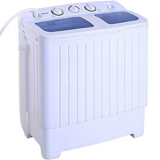 Portable Washing Machine Mini Compact Twin Tub 16lbs Washer Spin Cycle FREE SHIP