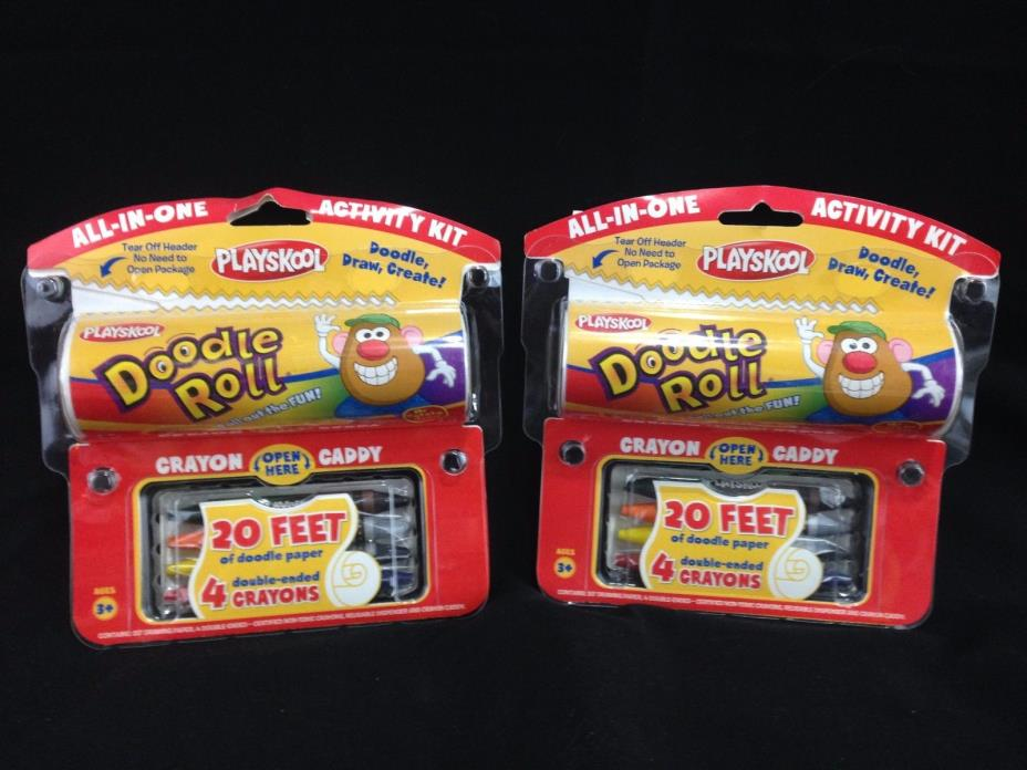 Playskool Doodle Roll Activity Kit ~20' Drawing, Doodling, Writing Fun Lot of 2