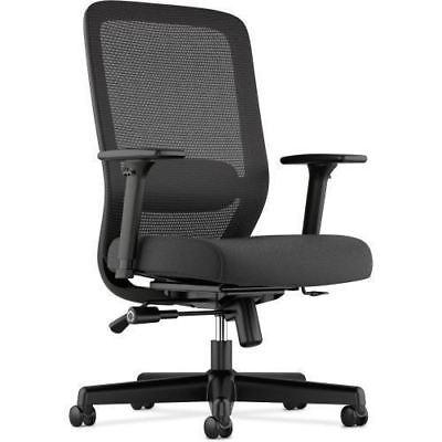 Basyx by HON Leather Guest Chair w/ Arms VL616SB11