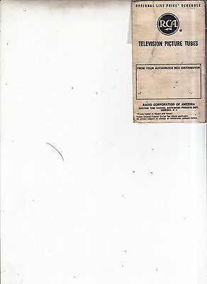 Vintage 1950's RCA Television Picture Tubes price booklet